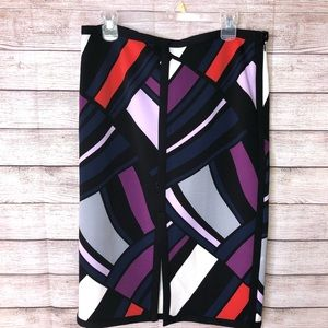 Worthington Beautiful Patched Multi Color Skirt